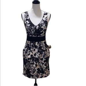 Black and White Floral Tank Dress